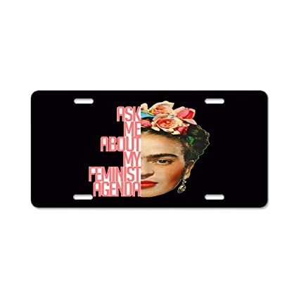 Amazon.com: A smiling eye Personalized License Plate Frida ...