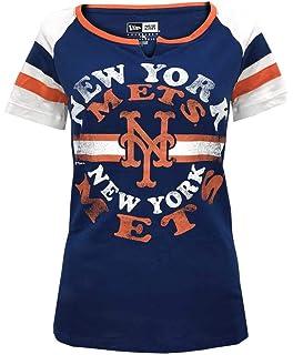 5e19e7bcaa New Era New York Mets Women's MLB Line Drive Short Sleeve Fashion Shirt