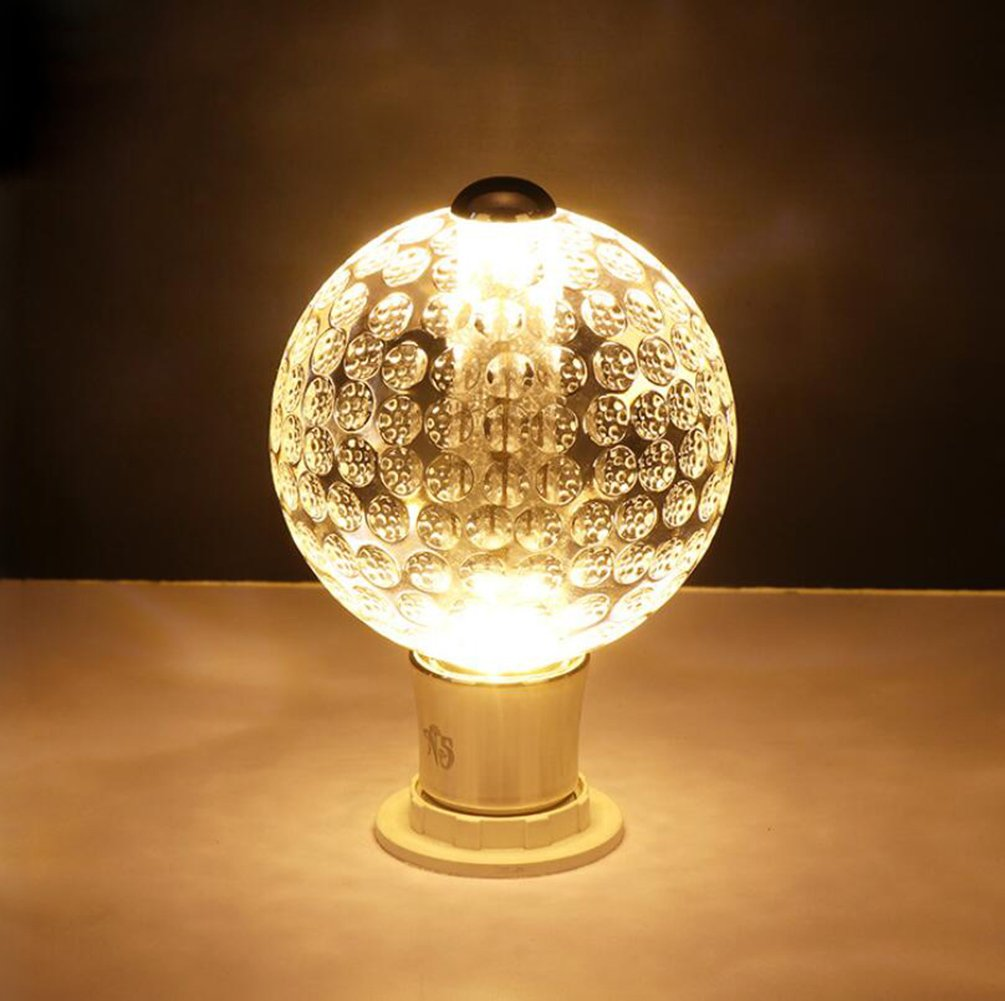 SJDPZM® E27 2700K 500LM 220V LED Blanc chaud K9 Ampoules à en cristal, Rétro Ampoule, 50*50