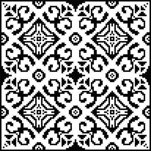 Diamond Filigree Geometric - Wrought Diamonds: Beautiful Geometry in Filet Crochet