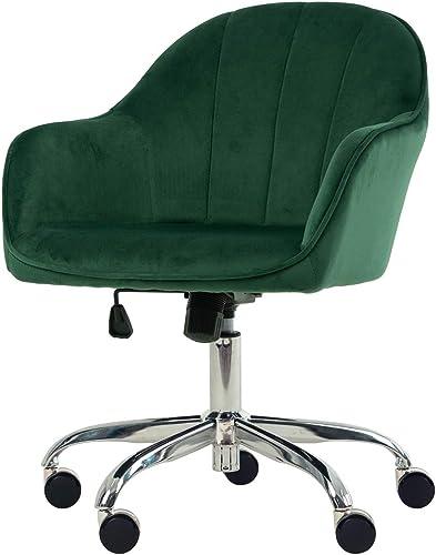 Golden Beach 360 Degree Swivel Home Office Chair Plush Velvet Desk Chair Reception Chair