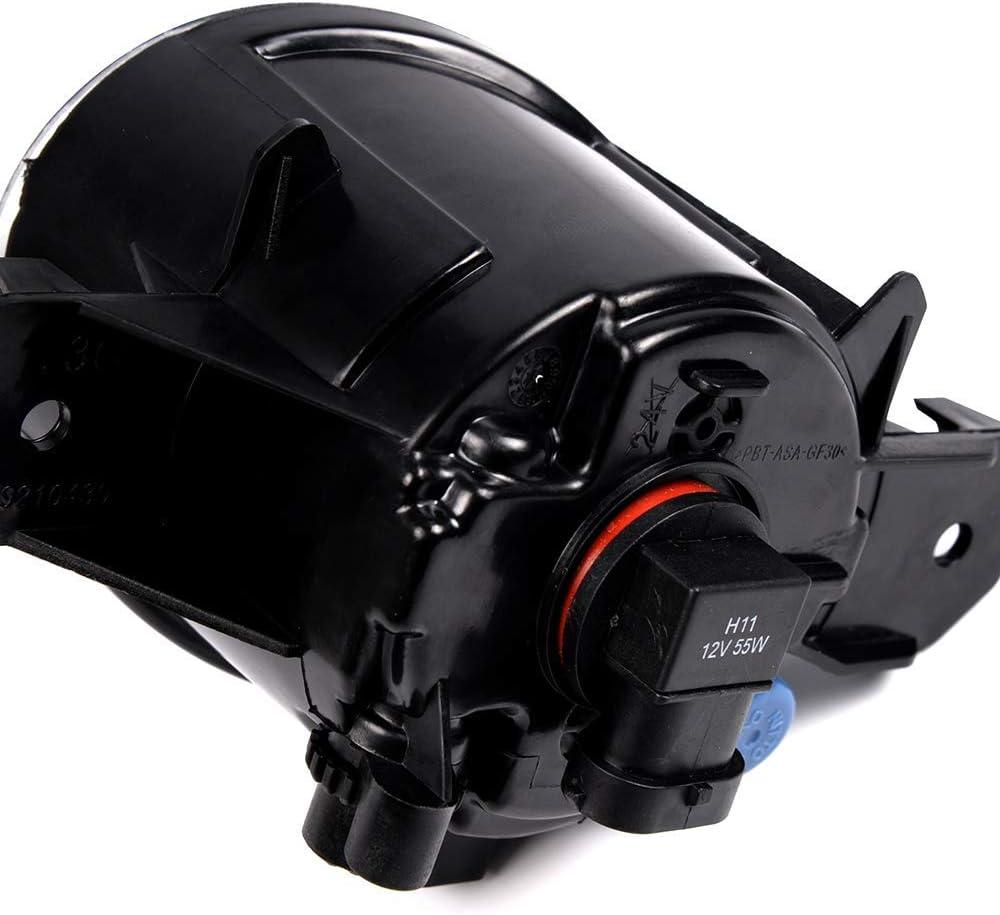 10-11 G37 Clear Glass Lens Fog Lights With H11 12V 55W Halogen ...