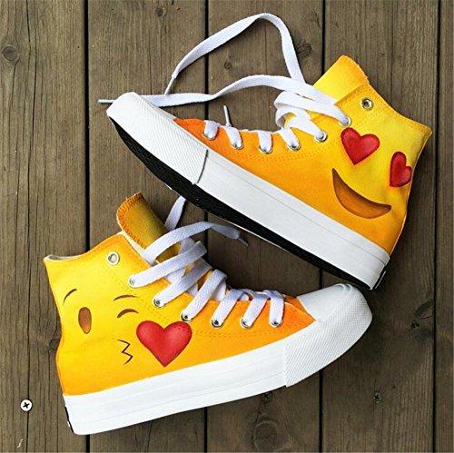 Moda para Libre De Ocio Estilo Damas Zapatos Adecuado Cubierta A Atlético Aire De Lona Mano Los Zapatos Al Pintados De De Creativos De Mujer Caminar Zapatos De Un Zapatos Amantes qwxfgf