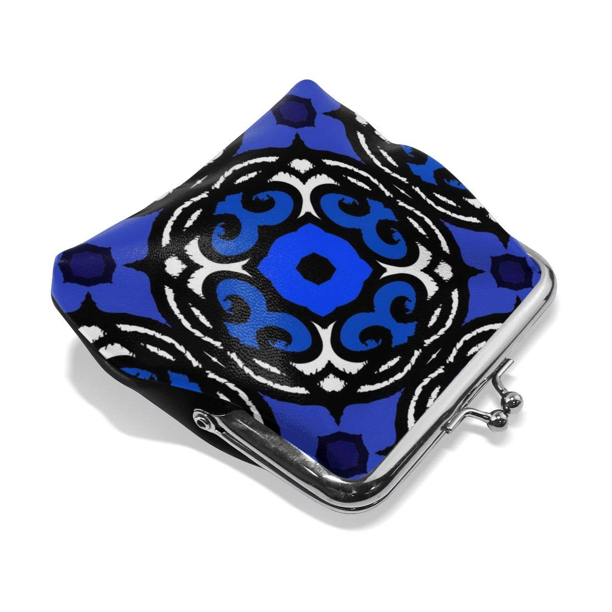 Yunshm Ethnic Pattern With Turkish Motifs Personalized Leather Classic Floral Coin Purse Clutch Pouch Wallet For Womens
