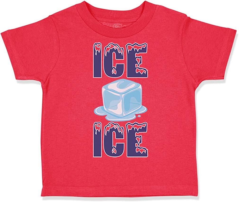 Custom Toddler T-Shirt Ice Baby Funny Humor Style D Cotton Boy /& Girl Clothes