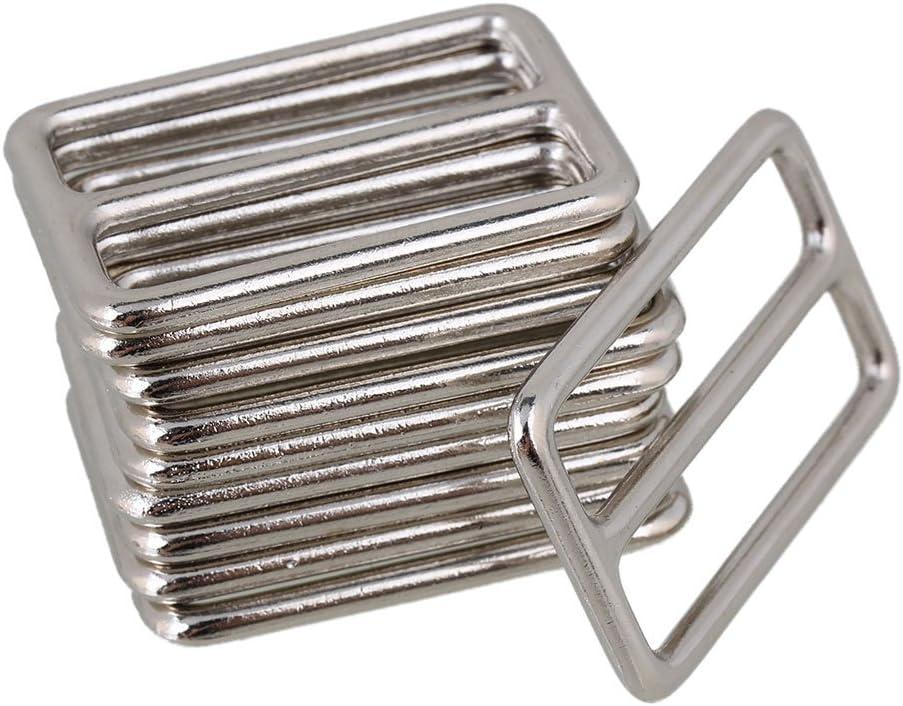 BQLZR 3.8cm Silver Zinc Alloy Heavy Welded Tri-Glides Buckles for Handbag Pack of 10