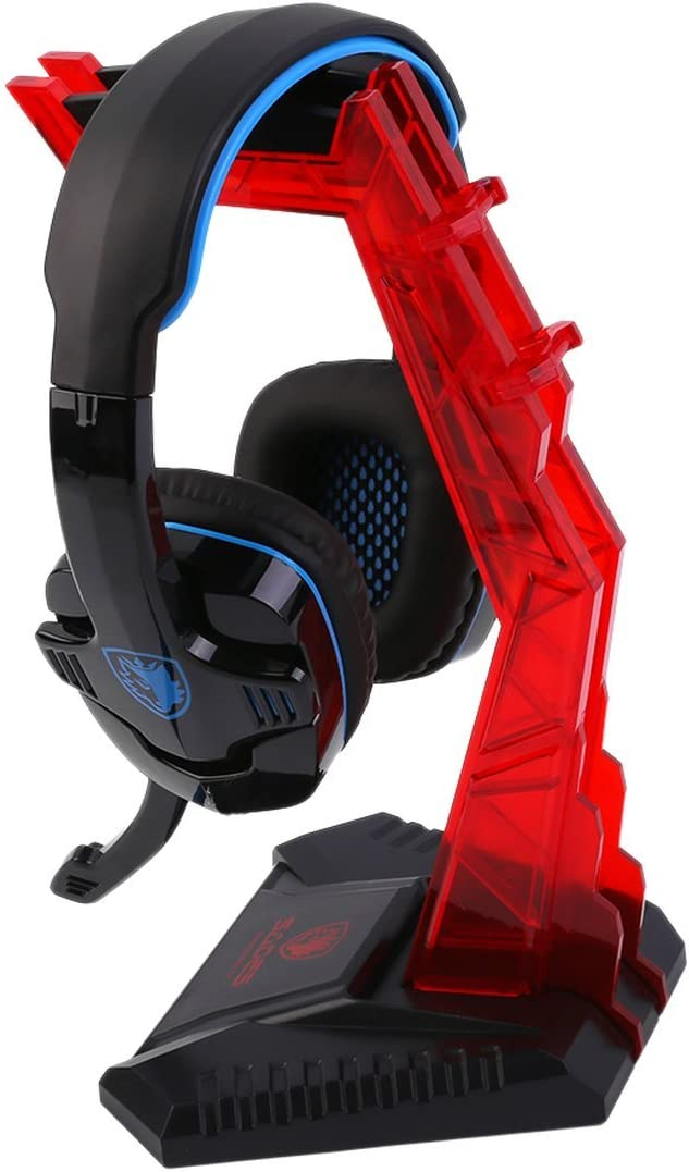 MXECO Universal Professional Gaming Gamer Headphone Headset Hanger Bracket Headphone Holder Shelf Rack Stand Red//Blue Rone Life