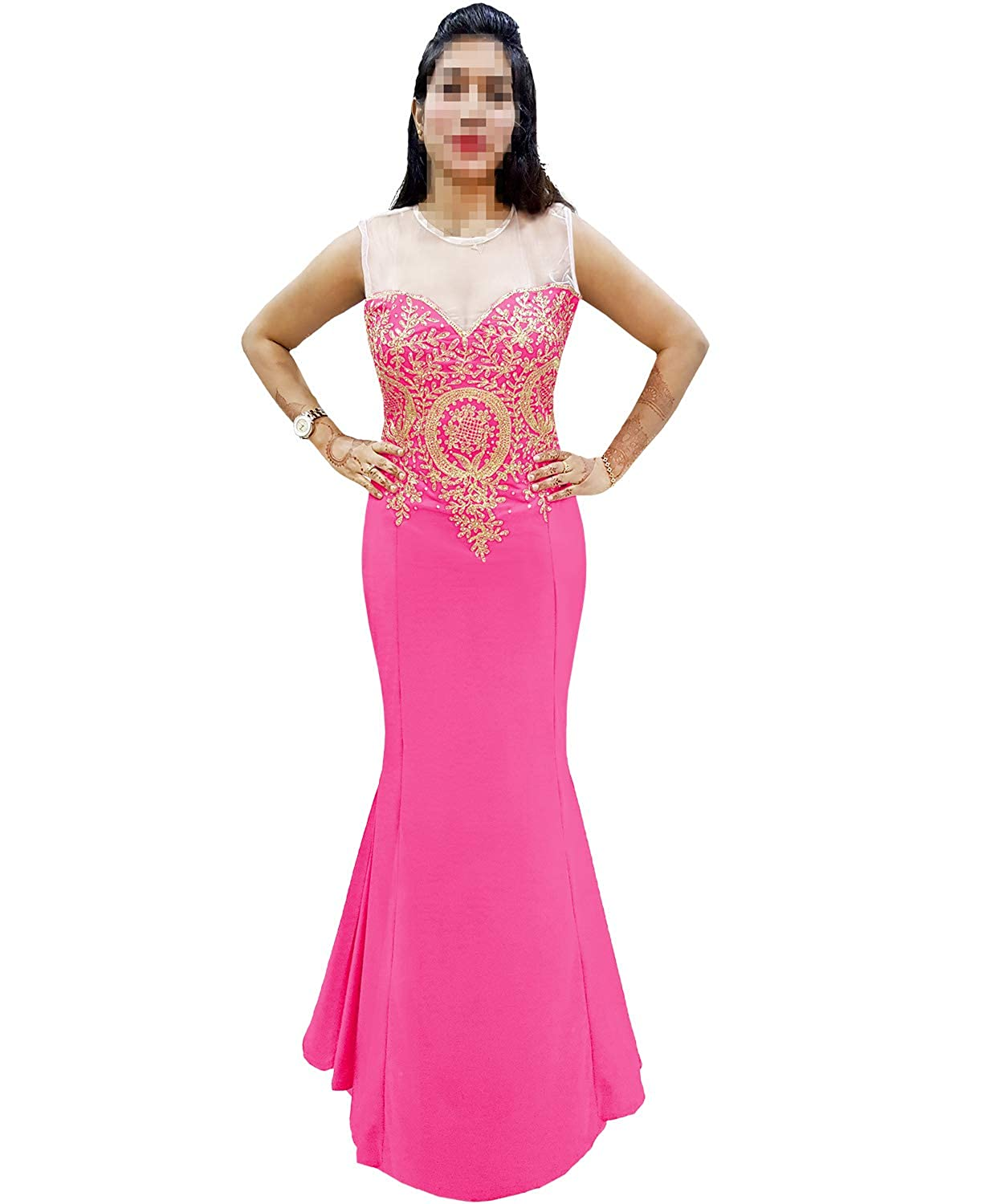 Baby Pink African Boutique Mermaid Evening Dress for Women Formal Embroidery Stone Work Long Prom Dress