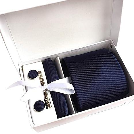 Kentop - Juego de corbata y gemelos para hombre (3 piezas ...