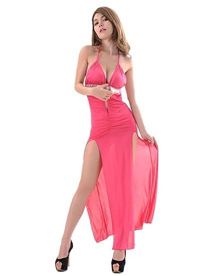 Boowhol-Lencería Sexy de Mujer Espalda Abierta Camisón Vestido Elegante Espalda Abierta Vestido de Noche