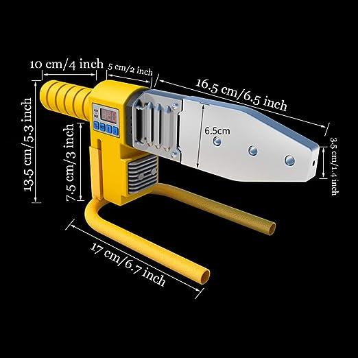 Toma fusión soldador de tubería de agua, AIZYR Máquina de la soldadura del zócalo 220V-800W para la soldadura de la pipa de la PB del PPR, del PE, ...