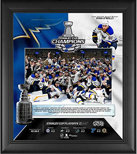 (St. Louis Blues 2019 Stanley Cup Champions Framed 15