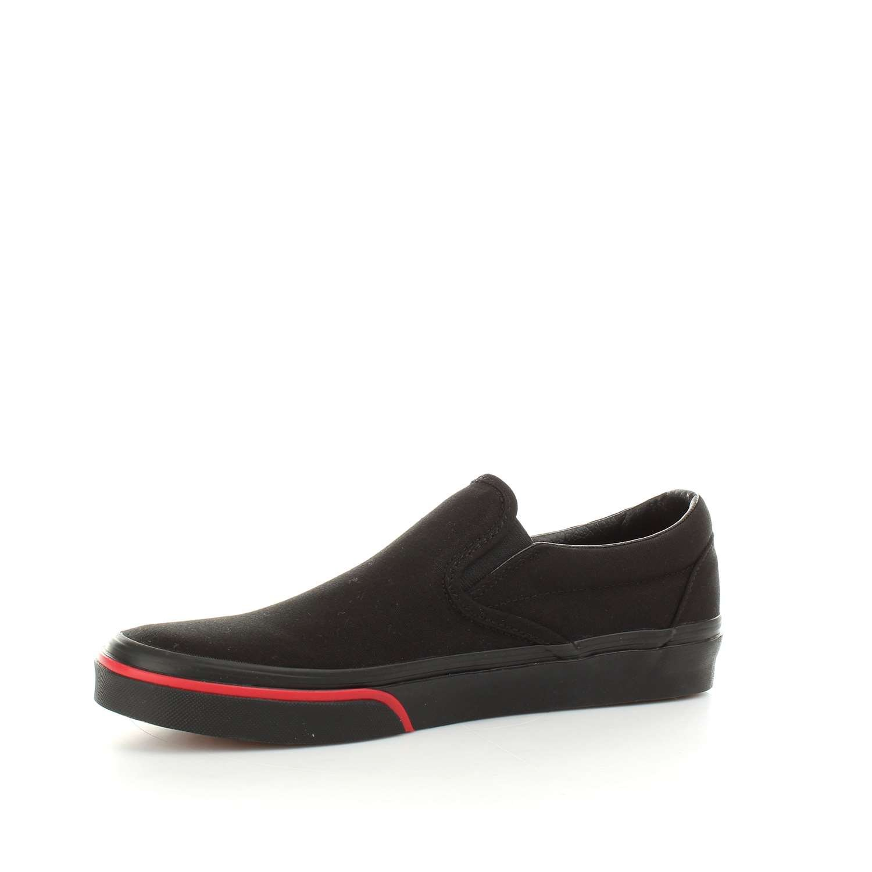 Vans Men's Classic Slip On (Suede & Suiting) M Skateboarding Shoes B076CVGW75 12 M Suiting) US Women / 10.5 M US Men|Flame Wall Black Black b28208