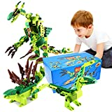 Kyпить Ounier Dinosaur Building Blocks Set 471PCS,8 Small Boxs 25 Deformation Dinosaur Toys,Educational Dinosaur 3D puzzles For Children Over 6 Years Old And Adults,Gifts на Amazon.com