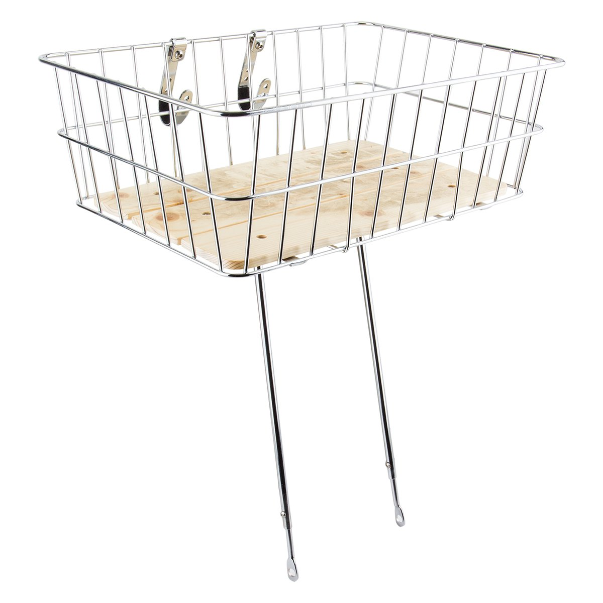 Sunlite Woody Front Basket, 18 x 13 x 6, Silver by Sunlite   B004TN28GI