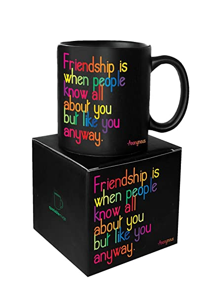 Amazon Quotable Friendship Is Quotable Mug Quotes Kitchen Inspiration Quotes About Coffee And Friendship
