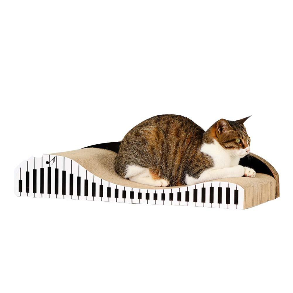 MRXUE Gato Scratch Board Corrugado Papel Piano En Forma De Back-Back Sofá Gato Arañazo Bordo Gato Garras Juguete Cama De Gato Grande: Amazon.es: Hogar