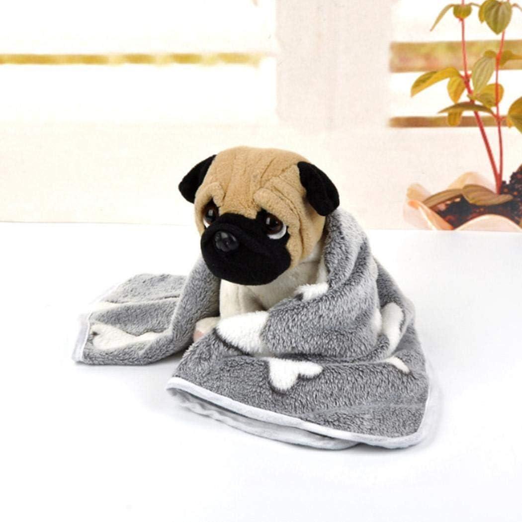 SummerRio Pet Blanket Thick Warm Coral Fleece Cat Dog Blankets Pet Supplies Size 20 x 20cm Bed Blanket