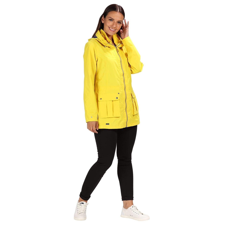 Regatta Womens Nakotah Waterproof and Breathable Concealed Hooded Outdoor Jacket