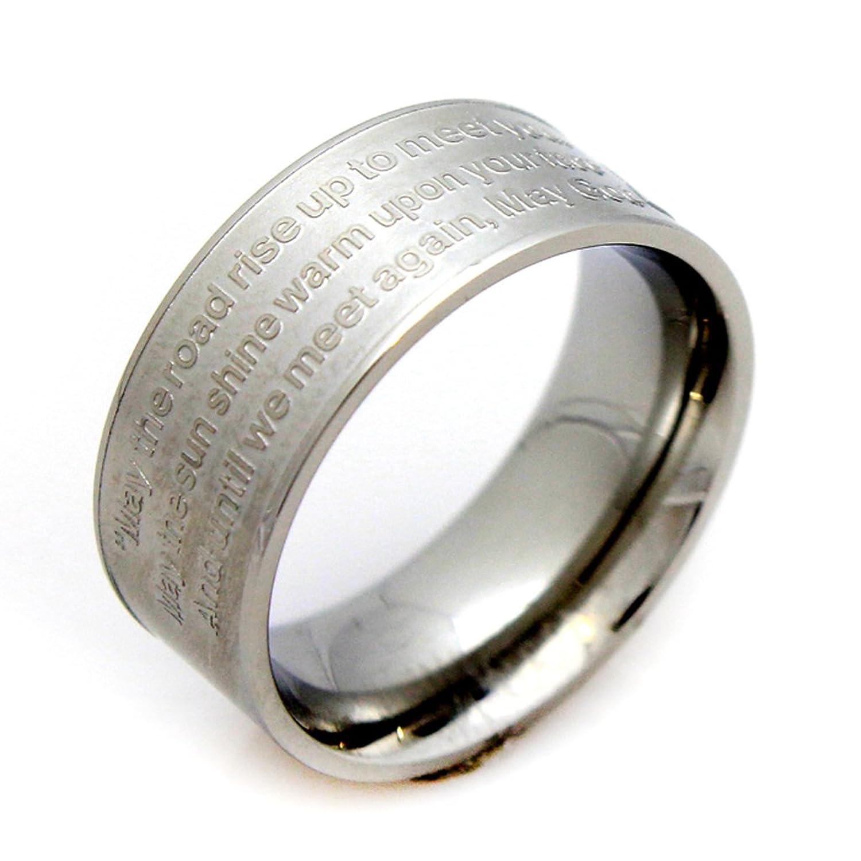 Celtic Ring Celtic Prayer Trinity Knot Ring Stainless Steel