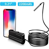 Depstech Wireless Endoscope, Ultra Thin 5.5mm WiFi Borescope, Extreme Long 5h Working Time, Semi-Rigid Snake Inspection Camera with 2200 mAh Battery for iOS & Android Smart Phone & Tablets