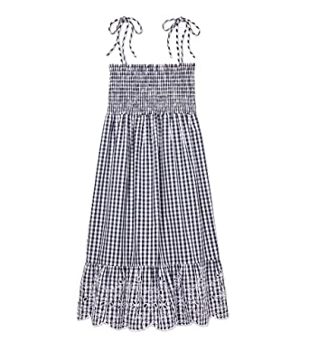 24d845de Tory Burch Swimwear Women's Gingham Beach Dress Cover-Up Tory Navy/White  Large