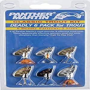 Panther martin deadly lure for trout 6 pack soft for Amazon fishing lures