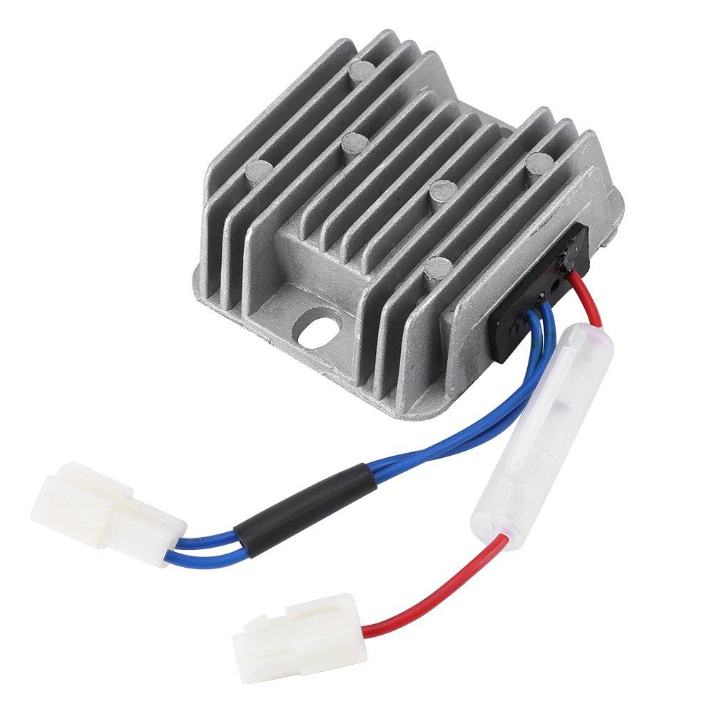 Regulador de Voltaje Del Motor, AVR, Rectificador,Asixx, 178F/186F 12V DC AVR Para KDE3500 5000 6500 6700 Generator,2 enchufes con un total de 3 alambres