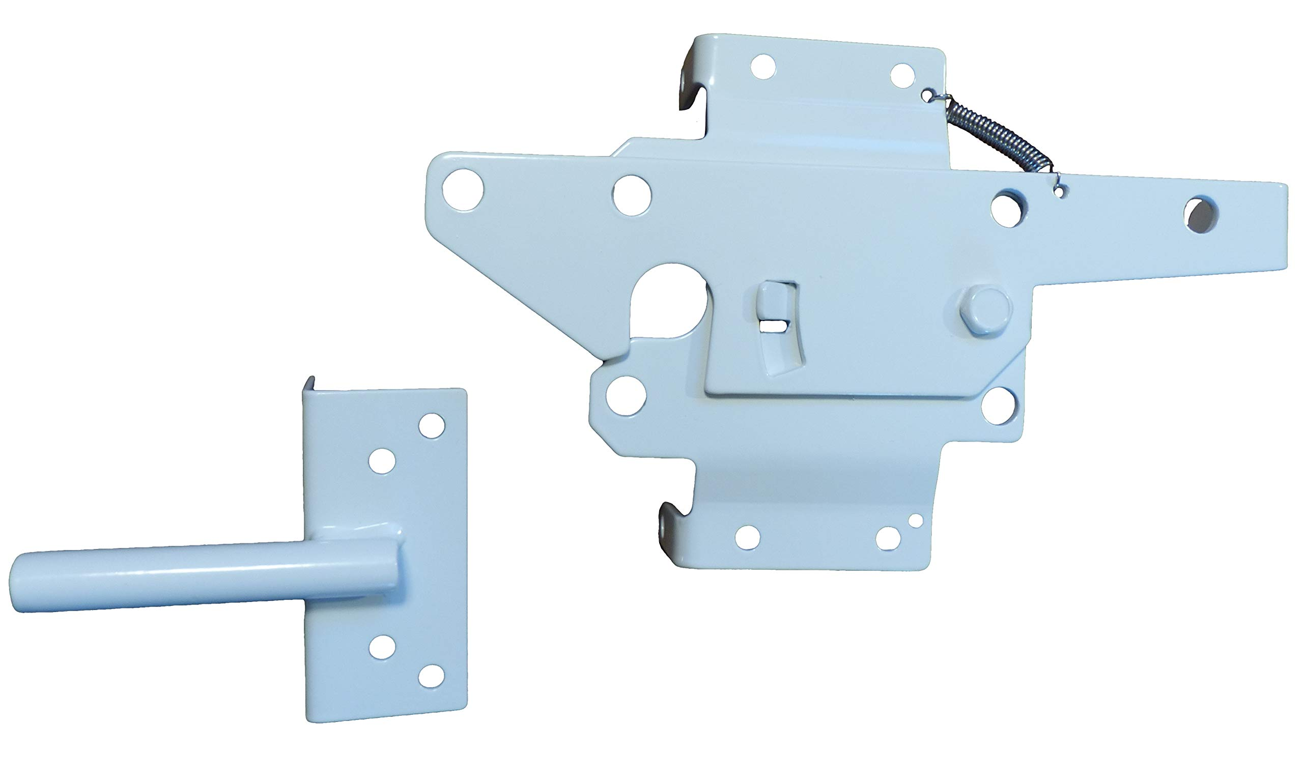 Post Mount Gate Latch (White Finish) | The Perfect Latch To Secure Your Pool and Yard (white)