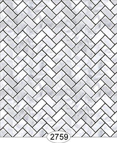 Dollhouse Wallpaper Mosaic Tile Black