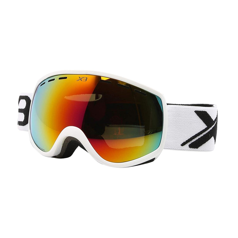 SonMo Schutzbrille Schneebrille Skibrille Nachtsichtbrille Fahrbrille Sport Sonnenbrille Radbrille TPU Skibrille Damen Herren Blendschutz mit UV Schutz Windschutz
