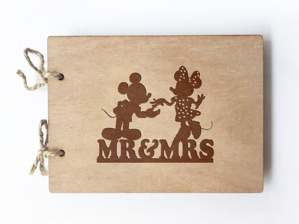 Wedding Guest book (wood) - notebook - Disney