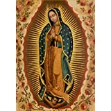 Virgin Mary Our Lady Of Guadalupe Mexican la virgen de Art Print Poster Wall Decor For Home Modern Decoration Print Decor For Living Room 20 x 27.5 Inch