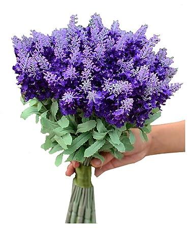 Amazon De Eleganten Brautstrauss Kunstliche Hochzeitsstrauss Lavendel