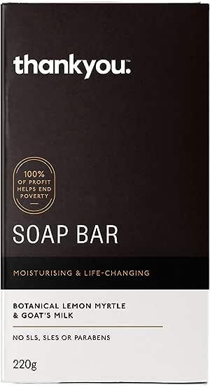 Thankyou Soap Bar Botanical Lemon Myrtle & Goat's Milk - Moisturising, 220g