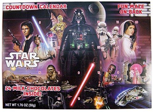 Star Wars Retro Classic 2016 Christmas Advent Countdown Calendar with 24 Chocolates, 1.76 oz