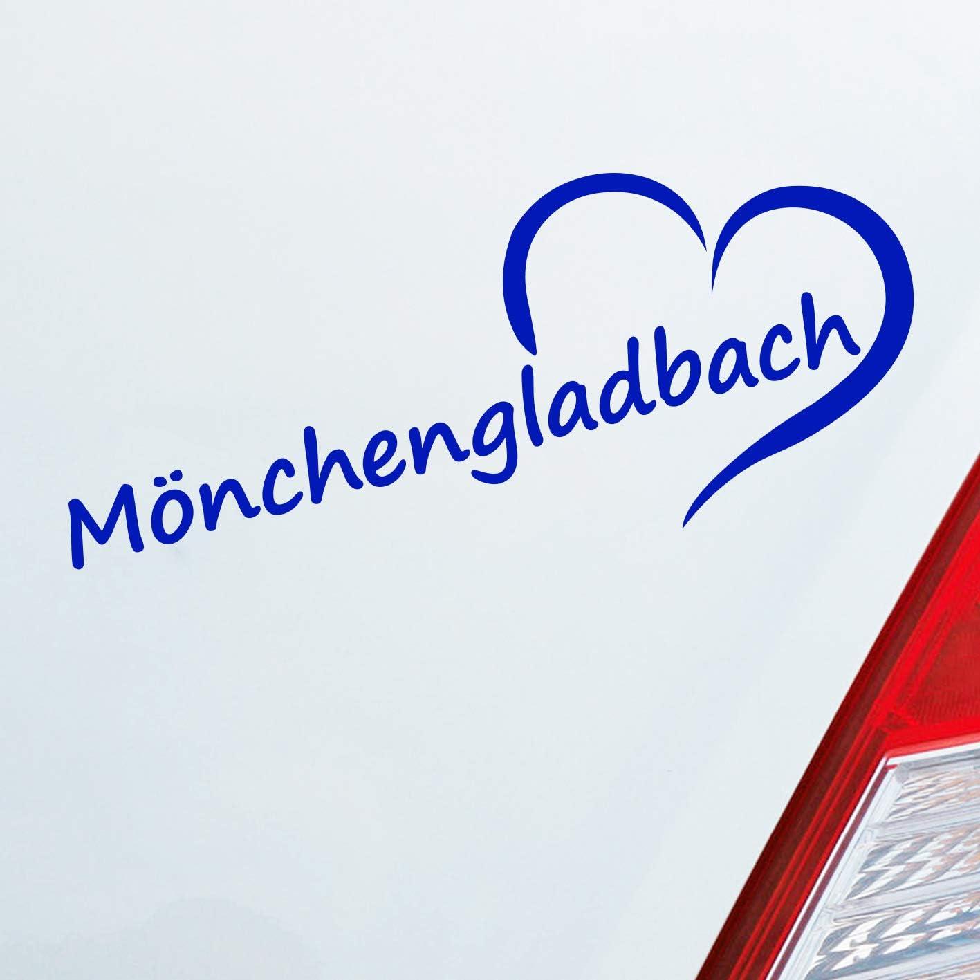 Auto Aufkleber In Deiner Wunschfarbe Mönchengladbach Herz Stadt City Liebe Love 19 5x8 Cm Autoaufkleber Sticker Auto