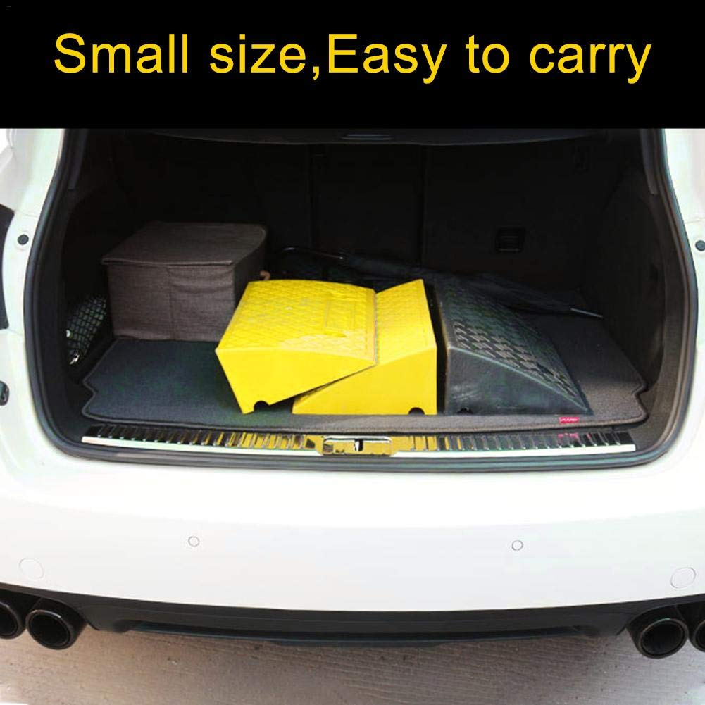 Portable Lightweight Curb Ramps for Driveway Car Truck /& Wheelchair Disabled Acces PVC Heavy Duty Plastic Kerb Ramps Pack of 2