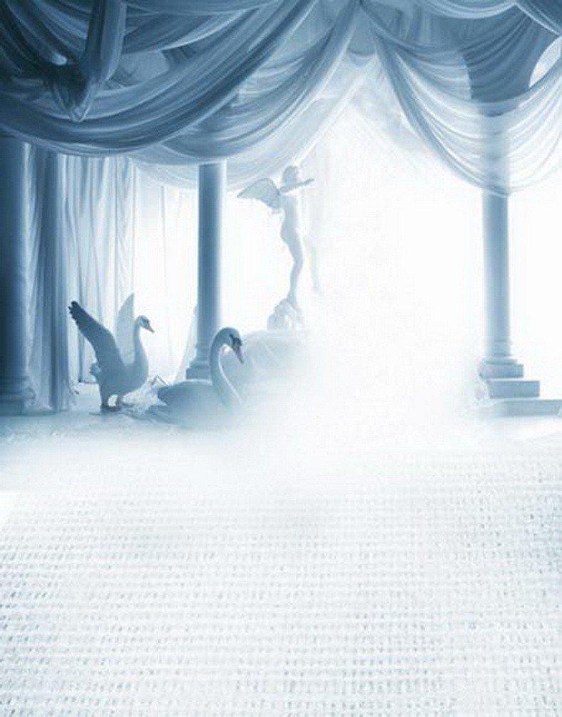 A Monamourライトブルー写真背景Mist FoggyインドアシーンSwan Studio小道具写真の背景幕   B01KTO2Z4U