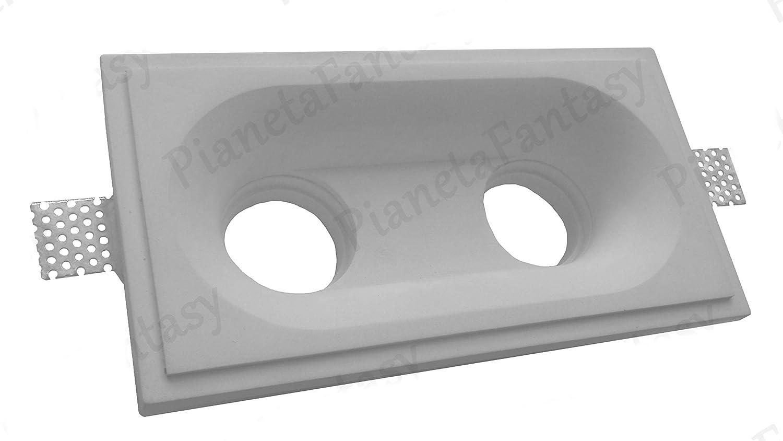 Molla Blocca Lampadina Porta Faretto in Gesso Ceramico a Scomparsa PF5 LOTTO DA 50 PEZZI