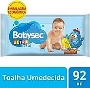 Toalha Umed Babysec Galinha Pint Ultrafresh 92 Unids, Babysec, Azul, 96 Unidades