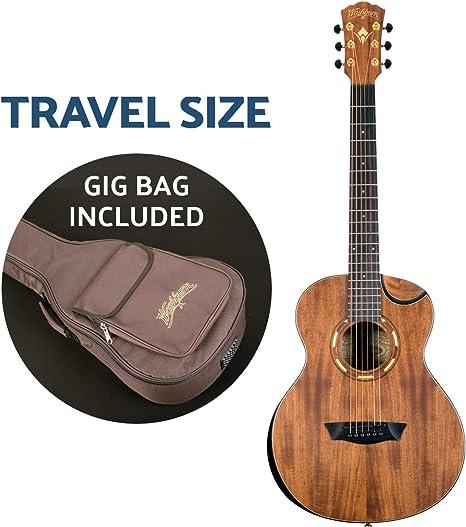 Washburn Comfort G-Mini 55 Koa - Guitarra acústica de viaje ...