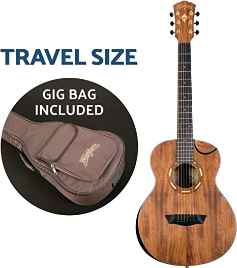 Washburn Guitarra acústica de 6 cuerdas, natural (WCGM55K-D ...
