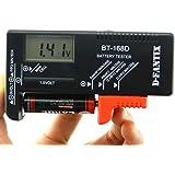 D-FantiX Digital Battery Tester Battery Checker for AA AAA C D 9V 1.5V Button Cell Batteries (Model: BT-168D)