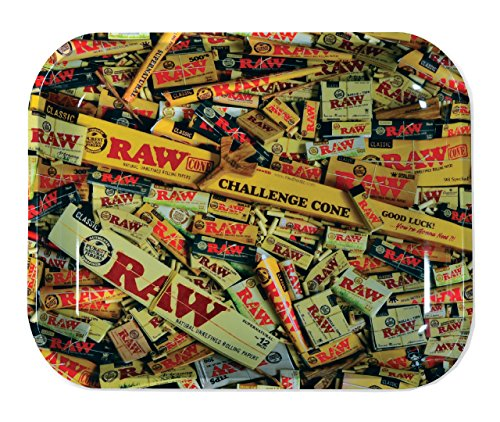 "RAW Mixed Items Metal Rolling Tray (Large 13.5""x11"")"