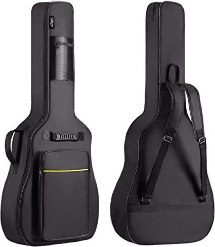CAHAYA Funda de Guitarra Universal Acolchada Versión Actualizada de 8mm con 2 Bolsillos para Guitarra Acústica y Clásica con Tamaño Más Grandes para Guitarra de 39/40/41 Pulgadas: Amazon.es: Instrumentos musicales