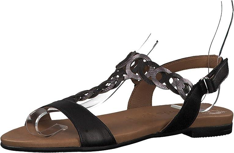 Tamaris 1 1 28127 22 Femme Sandale à lanières,Sandales,Sandales à lanières,Chaussures d'été,Confortable,Plat,Touch IT