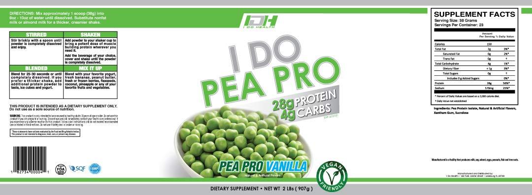 I Do Health Pea Protein Vanilla, 2 Pound