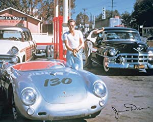 Pyramid America James Dean Vintage Race Car Photo Signed Reproduction Cool Wall Decor Art Print Poster 20x16