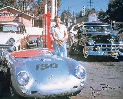 James Dean Porsche >> James Dean Car Poster 20x16